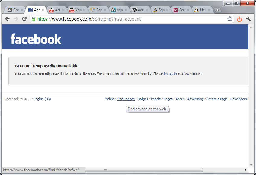 The page is temporarily unavailable